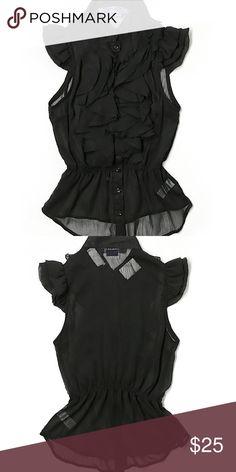 Miley Cyrus & Max Azria sleeveless sheer blouse Final Price❗❗Miley Cyrus & Max Azria sleeveless sheer blouse Miley Cyrus  Tops Blouses
