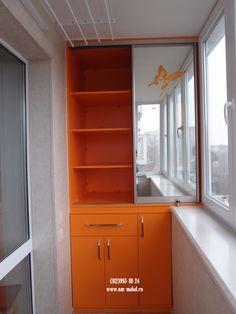 Шкафы на лоджию и балкон, шкаф-купе на балкон, балконный шкаф, мебель для лоджий и балконов на заказ в Санкт-Петербурге (СПб)