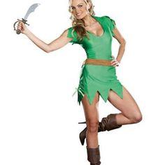 Pretty Pan Costume (Medium/Green) - Sexy Halloween Costumes