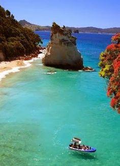 Cathedral Cove, Coromandel, New Zealand.