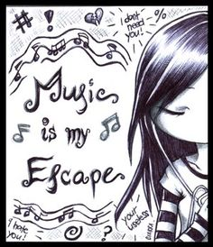Music is my escape emo girl emo boy quotes Music Is My Escape, Music Is Life, My Music, Music Mood, Jazz Music, Emo Quotes, Music Quotes, Qoutes, Singing Quotes