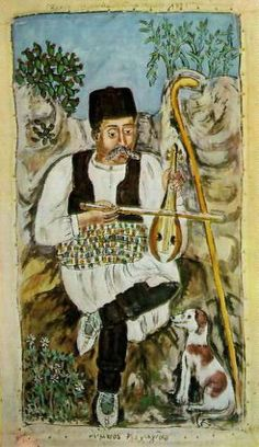 Lyra player from Lemnos Greek Paintings, Music Crafts, 10 Picture, Greek Art, Folk Art, Art Projects, Traditional, History, Painters