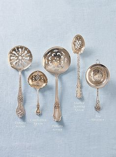 Your cheat sheet for everything from choosing basic silverware styles to identifying obscure (but fabulous) vintage pieces Silver Cutlery, Vintage Cutlery, Sterling Silver Flatware, Silver Spoons, Silver Plate, Silver Ring, Silver Earrings, Flatware Set, Vintage Silver
