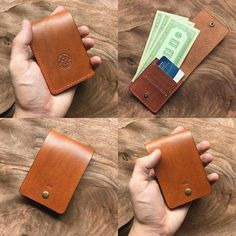 'Colin' tan and red. Customized for an old colleague! MN, I hope you love using it! - My MartoKizza Leather Wallet Pattern, Handmade Leather Wallet, Leather Gifts, Leather Craft, Crea Cuir, Diy Accessoires, Leather Workshop, Leather Projects, Leather Accessories