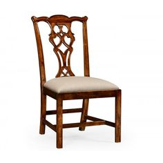 Buy Chippendale Walnut Dining Chair | Side Chair | Swanky Interiors