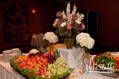 #wedding reception decorations #centerpieces #tablescapes #reception details #Michigan wedding #Mike Staff Productions #wedding details #wedding photography http://www.mikestaff.com/services/photography #flowers #short centerpieces