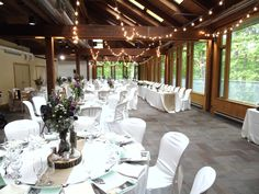 reception in the Forest Gallery with our Patio Lighting