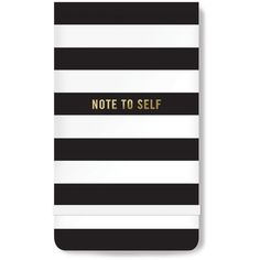 Fringe Note To Self Notepad ($7) ❤ liked on Polyvore featuring home, home decor, stationery and white