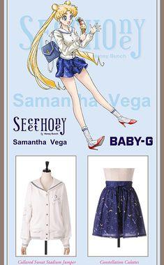 Sailor Moon Collaborates with Secret Honey, Riccimie Sailor Moon Outfit, Sailor Moon Cosplay, Sailor Moon Manga, Sailor Saturn, Cartoon Outfits, Anime Outfits, Cartoon Fashion, Hijab Fashion Inspiration, Style Inspiration