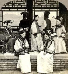 Wealthy Manchu women.