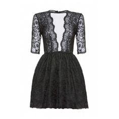 Jones and Jones Belle Dress/ Black Floral Lace ($105) ❤ liked on Polyvore