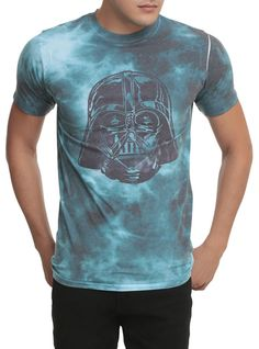 Tie dye T-shirt from Star Wars with Darth Vader design.