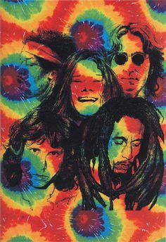 Jimi Hendrix, Jim Morrison, Janis Joplin, John Lennon, Bob Marley