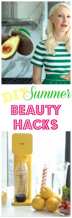 Check out my Top DIY Summer Beauty Hacks! These tips and tricks will help you get through the season easier than you thought possible! #DIY #beautyhacks #ad #SodaStream