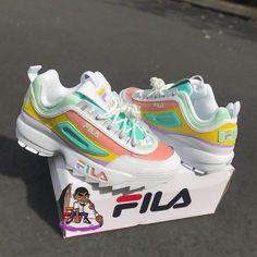 Sneakers fila footwear new ideas Cute Sneakers, Shoes Sneakers, Gucci Sneakers, Green Sneakers, Adidas Shoes, High Top Sneakers, Sock Shoes, Shoe Boots, Sneakers Fashion