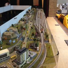 Large Modular N-scale Layout