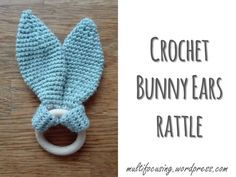 This hand crafted little teething ring is a lovely and quick baby gift to make.