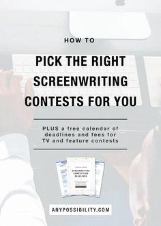 Ever wonder how to pick the right screenwriting contests for you to enter? Check out this post on just that. Click the image to read the full post. Screenwriting   Screenplay   Filmmaking