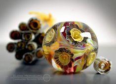 lampwork glass bead 051 focal 1 ocean waves sea water. Black Bedroom Furniture Sets. Home Design Ideas