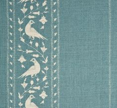 Baroda II in Island Blue from Lisa Fine Textiles #fabric #linen #blue