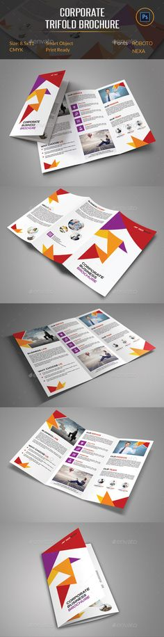Corporate Trifold Brochure Template #design Download: http://graphicriver.net/item/corporate-trifold-brochure/12055041?ref=ksioks