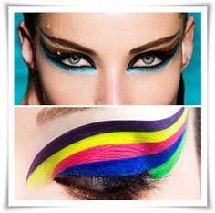 Boas Futilidades: Delineado Colorido, Cílios Artísticos ou Strass?? Carnaval!!!!