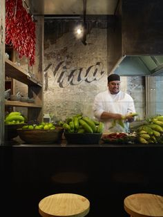 Interior, Méjico: Stunning Traditional Mexican Restaurant in Sydney, Australia: The Natural Fresh Ingredients Are Vividly Displayed In The O...