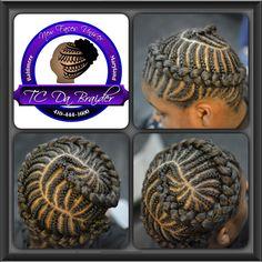 Girls protective braids