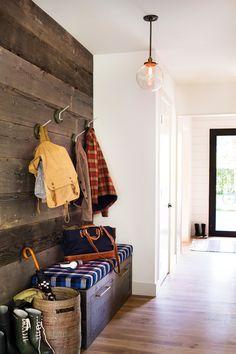 Entryway with barn boards