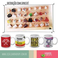 Para os loucos por canecas como nós, uma ótima ideia de decoração para enfeitar a casa com a sua coleção!