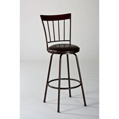 Cantwell Brown Swivel Bar Stool With Nested Leg Hillsdale Furniture Bar Height (28 To 36 I