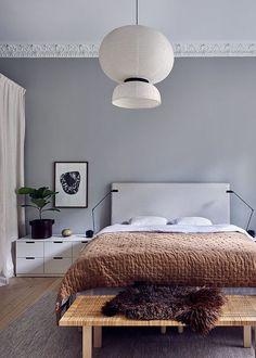 Home in grey and wood tints - via Coco Lapine Design blog