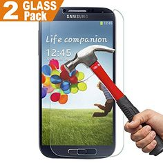 [2 Pack] [Lifetime Warranty] SamSung S4 Screen Protector, InaRock 0.26mm 9H Tempered Glass Screen Protector for Samsung Galaxy S4 I337 I545 M919 I9500 L720 Most Durable [Easy-Install Wings]