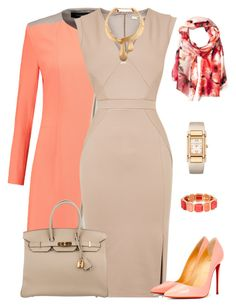 outfit 4000 by natalyag on Polyvore featuring polyvore fashion style Oasis Roland Mouret Christian Louboutin Hermès Patek Philippe Schield Collection Monet Calvin Klein clothing