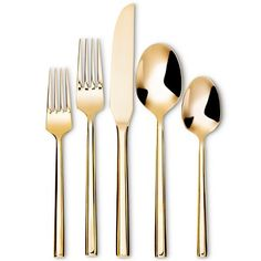 Izon Flatware Set 5-pc. Stainless Steel Gold - Threshold™ : Target