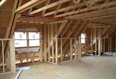 dormers on houses inside | Inside dormer framing