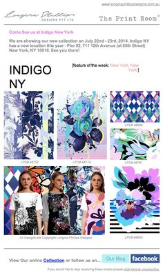 We are showing at Indigo NY! Come visit our stall! #textiledesign #longinaphillipsdesigns