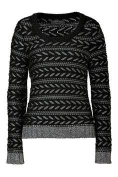 RAG & BONE - Charcoal Lisbeth Crewneck Pullover