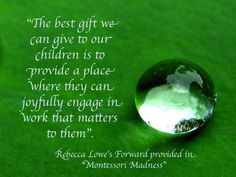 """From """"Montessori Madness"""" by Trevor Eissler"""