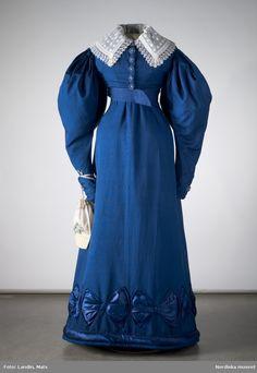 Silk day dress, Swedish, 1820's. Nordiska Museet, nr. NM.0024402