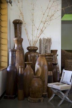 teak wood jars Villas, Teak Wood, Wood Carving, Woodworking, Contemporary, Wood Work, Living Room, Nice, Jars