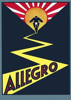 Allegro Motorcycles Vintage Posters & Prints