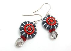 Choice of Small Felt OSU earrings Embroidered Art by aimeere, $16.00