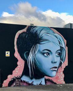 Street Wall Art, Street Graffiti, Graffiti Art, Sam King, Mural Wall Art, Murals, Art Deco, Stencil Art, Urban Art
