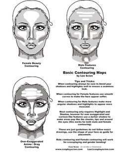 Basic Contouring Tutorial by The Cosplay Scion View the Full Tutorial Here: http://www.cosplayscion.com/tutorial/basic-contouring