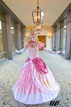 princess peach- full view of cosplay