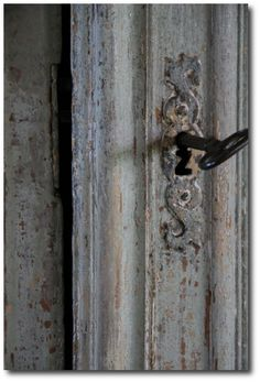 grey distressed door - for stephanie