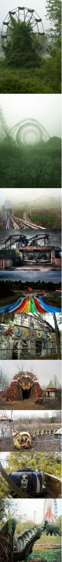 Creepy and deserted amusement parks