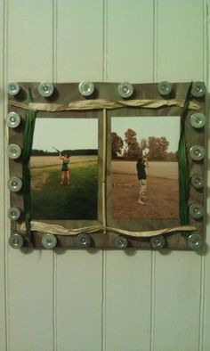 Camo picture frame with shotgun shells