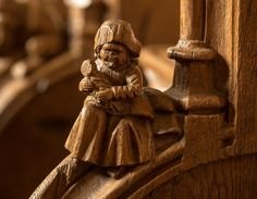 Mother and child misericord at Solignac, France   Flickr - Photo Sharing!